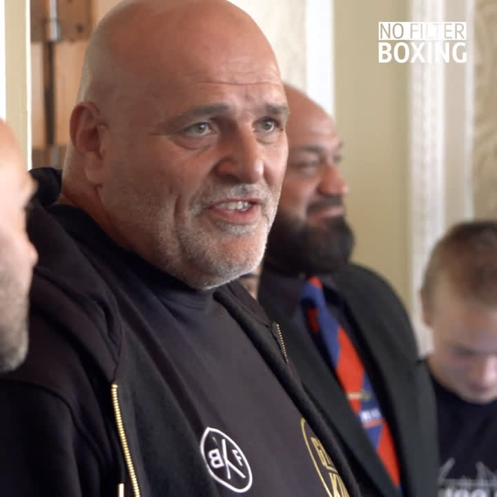 He can beat any man on the planet. 🌍 Itll be 500 years before you see someone like him again! 😳 @Tyson_Furys dad gave a passionate speech at todays press conference...