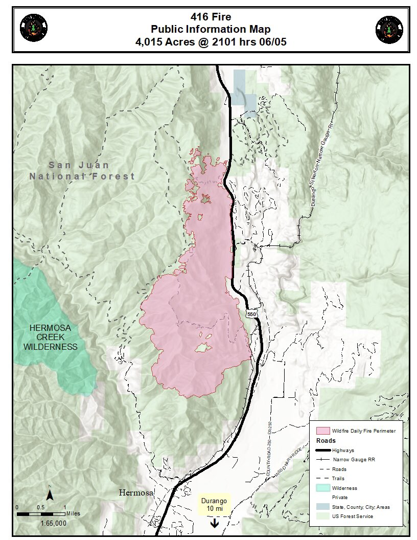 La Plata County Co On Twitter Here S The Latest 416fire Map As