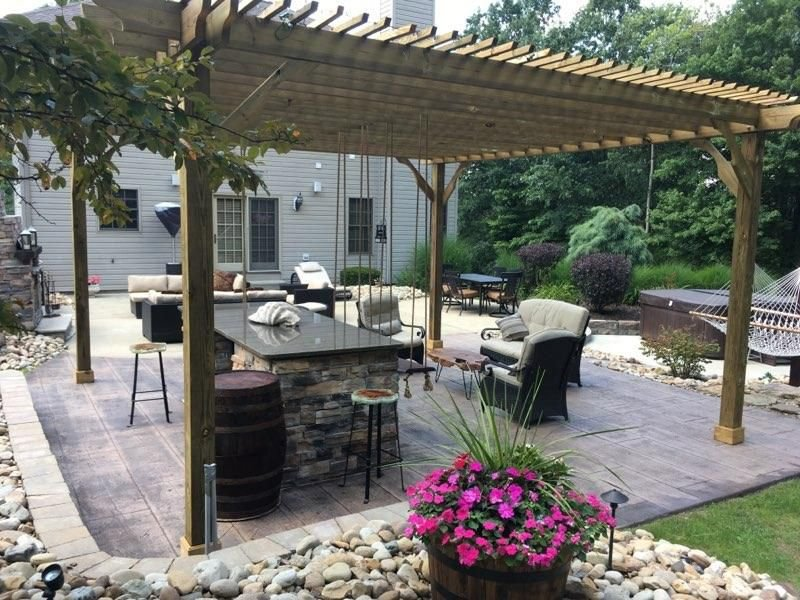 This customer created a nice outdoor space with a 20x20 Big Kahuna Pressure  Treated Pine Pergola Kit. - Pergola Depot On Twitter: