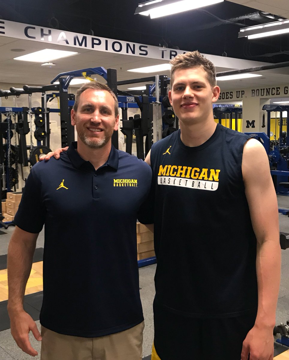 Great to have @moritz_weasley back in Ann Arbor training this week. #WeDevelopPros #2018NBADRAFT