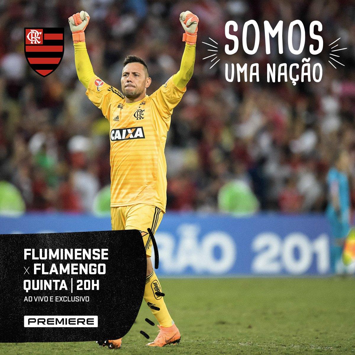 Amanhã é dia de FLAxFLU no Mané Garrincha e a transmissão é exclusiva do Canal Premiere. Acompanhe mais um desafio do Mengão na liderança do Brasileirão 2018! #VamosFlamengo