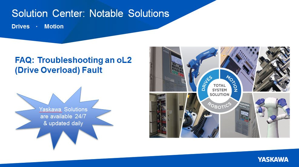 Yaskawa America Inc On Twitter Troubleshooting An OL2
