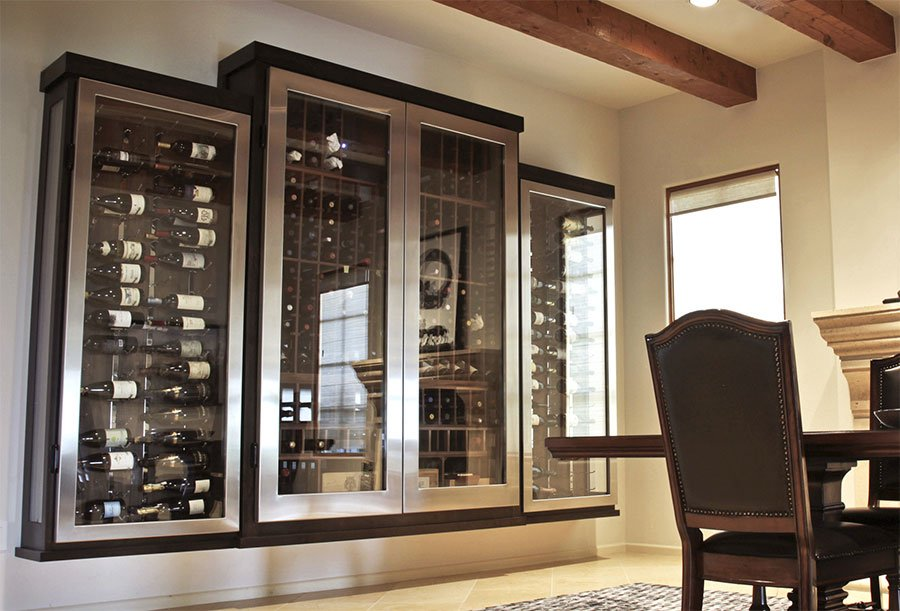 Gl Enclosed Wine Cellars Are A Dramatic Way To Display Your Collection Do You Need Cabinet Or Fully Custom Room