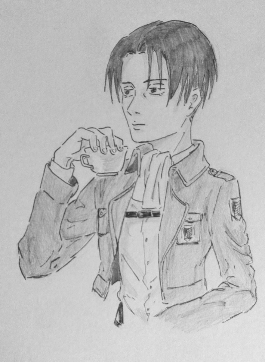 Beka On Twitter Levi Ackerman Drinking Tea Attackontitan Shingekinokyojin Anime Leviackerman Tea