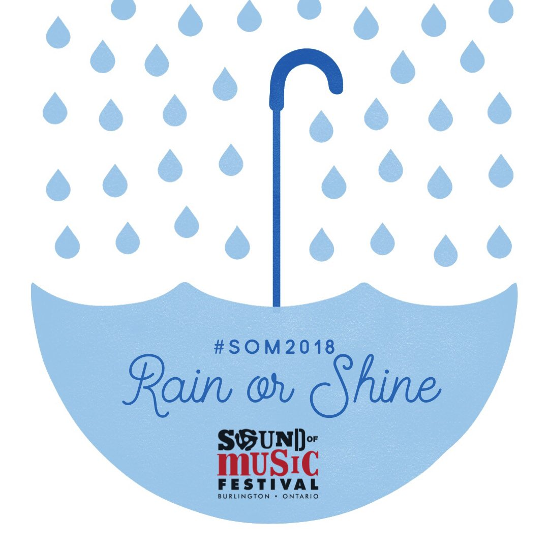 #SOM2018 kick off concerts will happen rain or shine! Be sure to bring your poncho, no umbrellas permitted!   Don't forget your tickets for this weekend before prices go up at the door! http://Smarturl.it/SOM2018