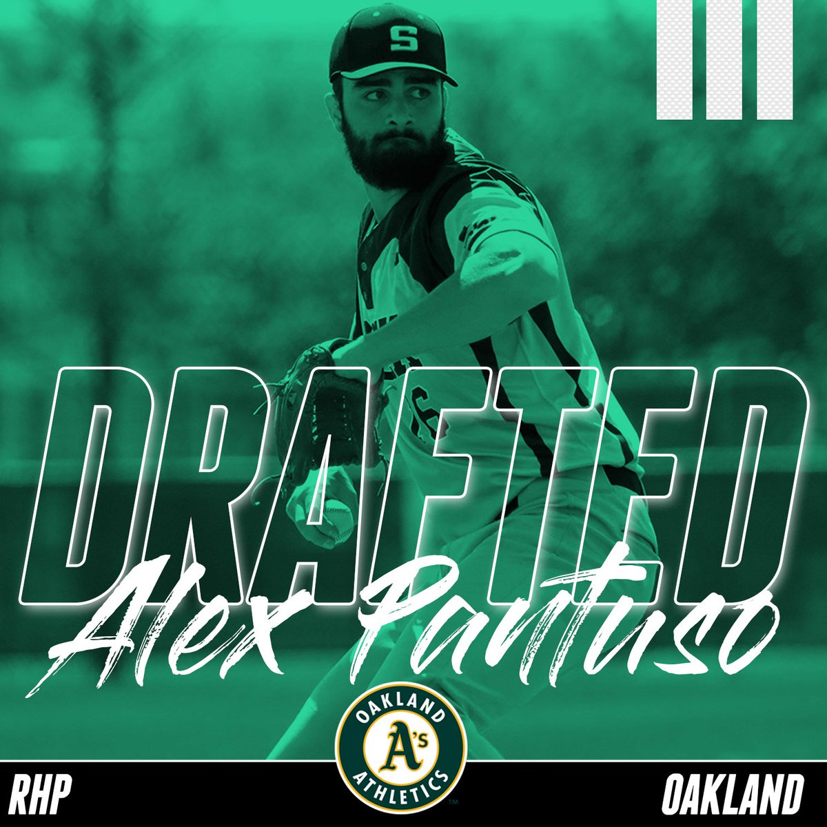 BASE: The @Athletics select Alex Pantuso in the 31st round (#923) of the MLB Draft. Congrats to both Alex and The As (They got a steal and the last pitcher Oakland took from The Rock has worked put pretty well so far).
