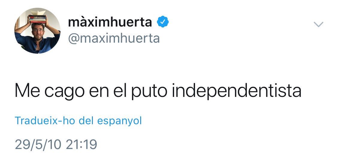 """Meet the new Spain's Minister of Culture @maximhuerta, who tweets: """"I shit on the fucking pro-independence people"""" <br>http://pic.twitter.com/ti2wRwMr8H"""
