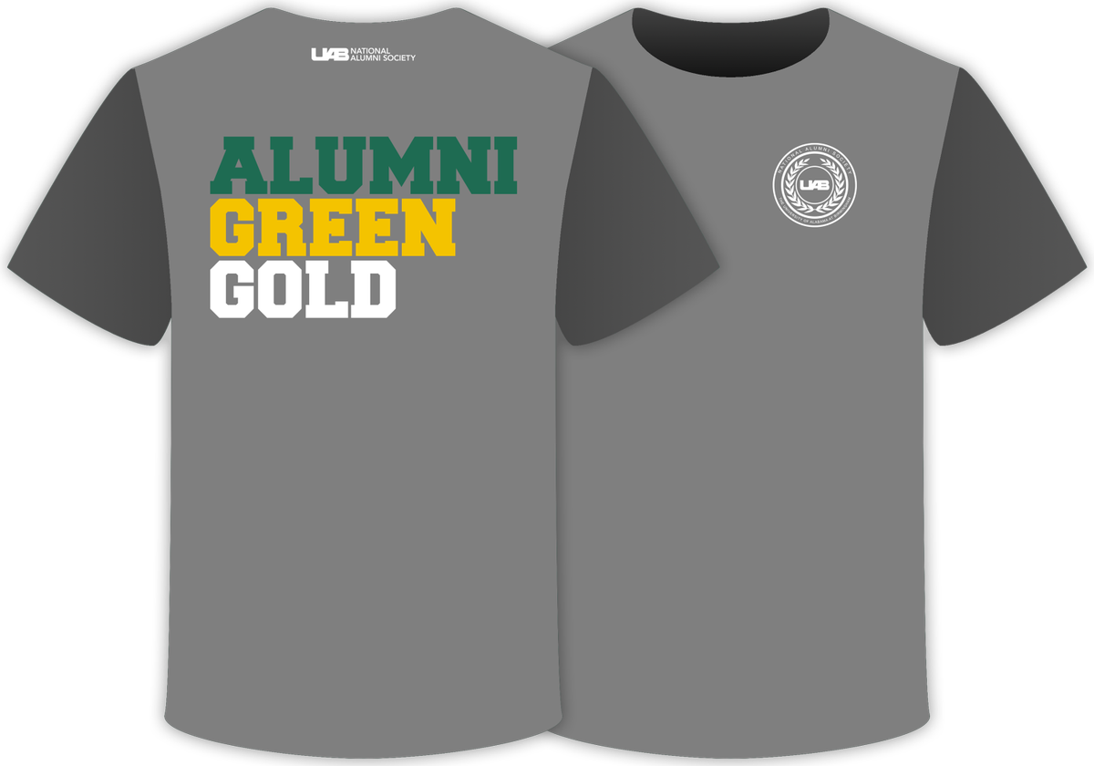 Uab Alumni On Twitter Option 2 Is This Alumni Green Gold T Shirt