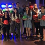 Image for the Tweet beginning: Team MiNA hit the bowling