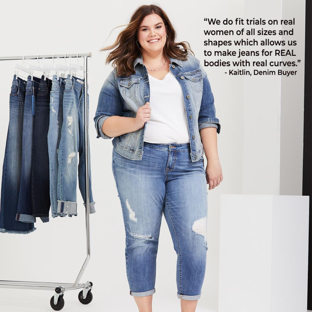 487698ff502 She reveals a few of the denim secrets that give Torrid Jeans a leg up. http    torrid.me tT4isA  Denim  WeSwearByTheFitpic.twitter.com qvLw5fimUs