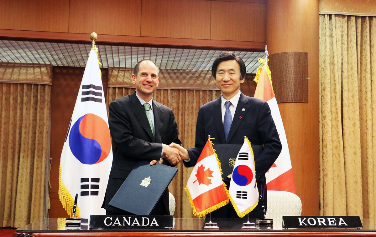 Canada In Korea On Twitter Tbt Canada Korea Free Trade Agreement