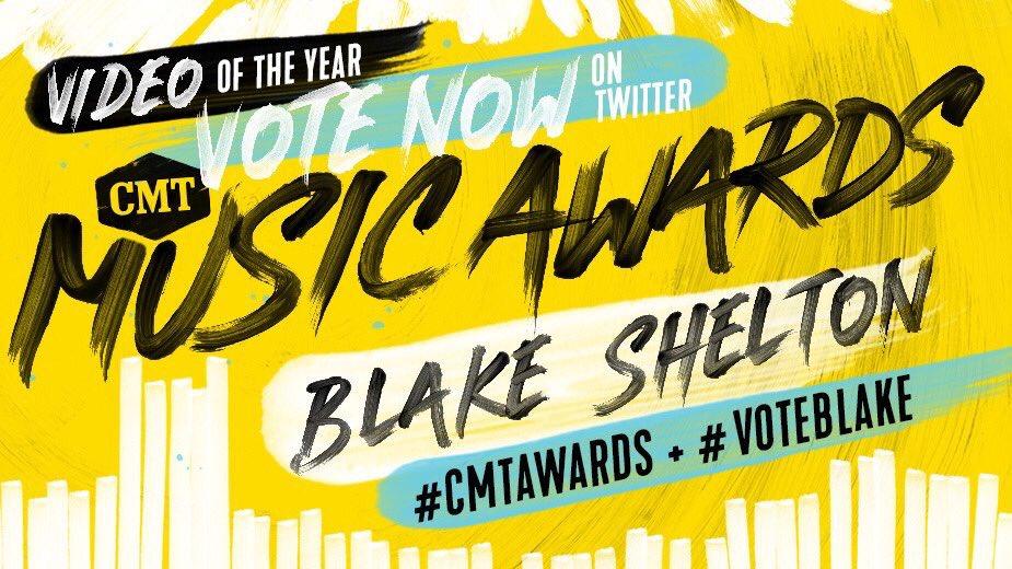 VOTE VOTE VOTE! Retweet to vote for Blake! #CMTawards #TEAMBLAKE https://t.co/uCKuV6Eaul