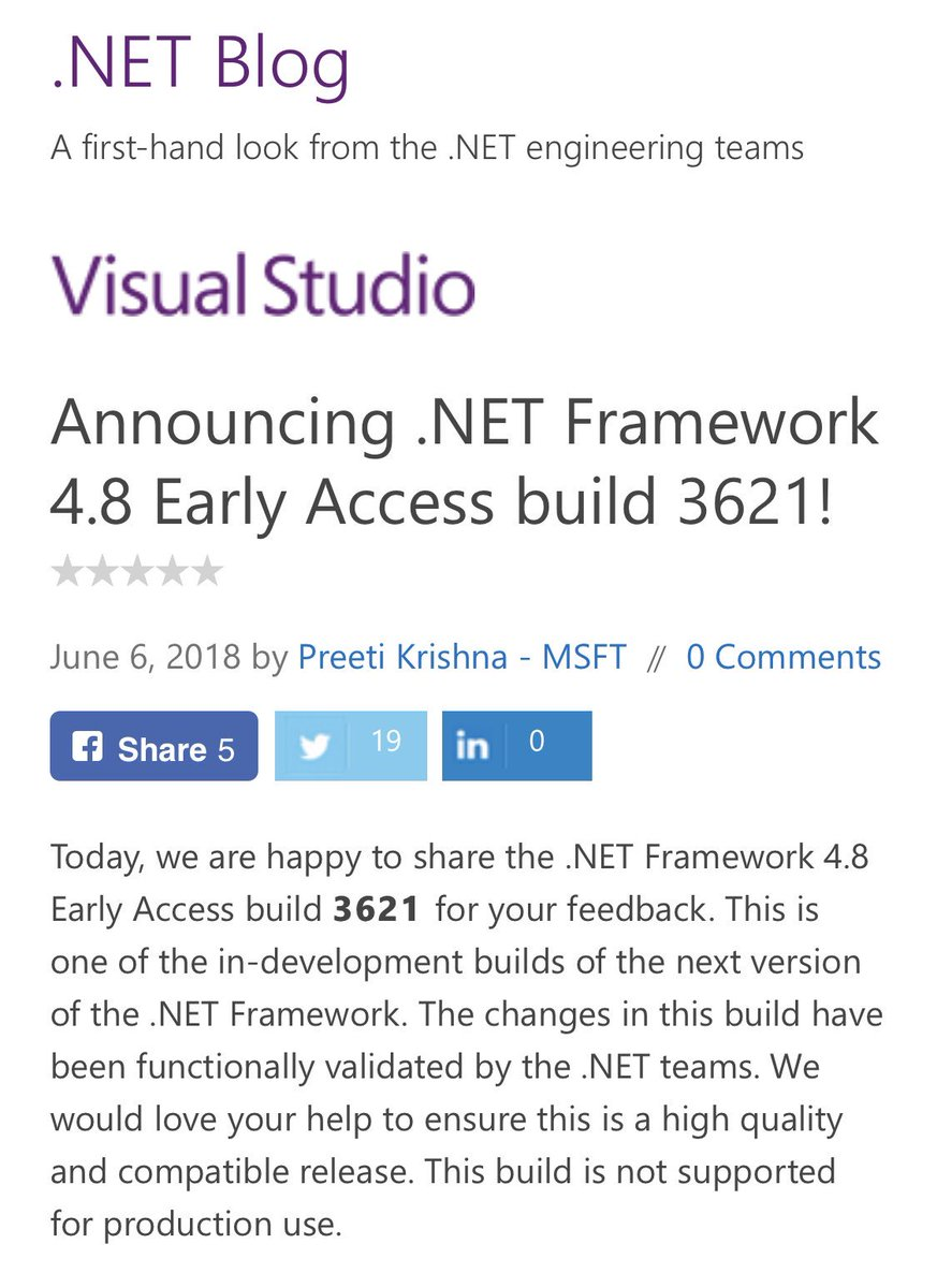 .net framework 4.8 early access