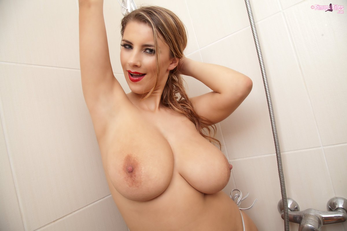 Hot topless blondes in the shower — pic 9