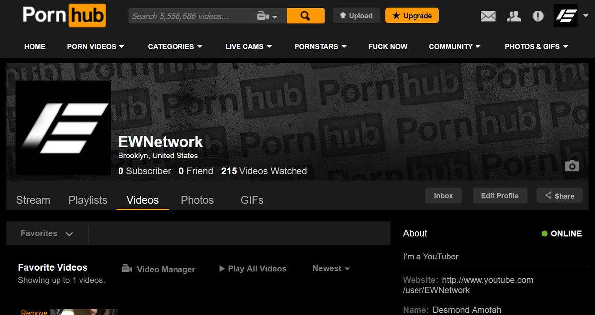 Pornhub account