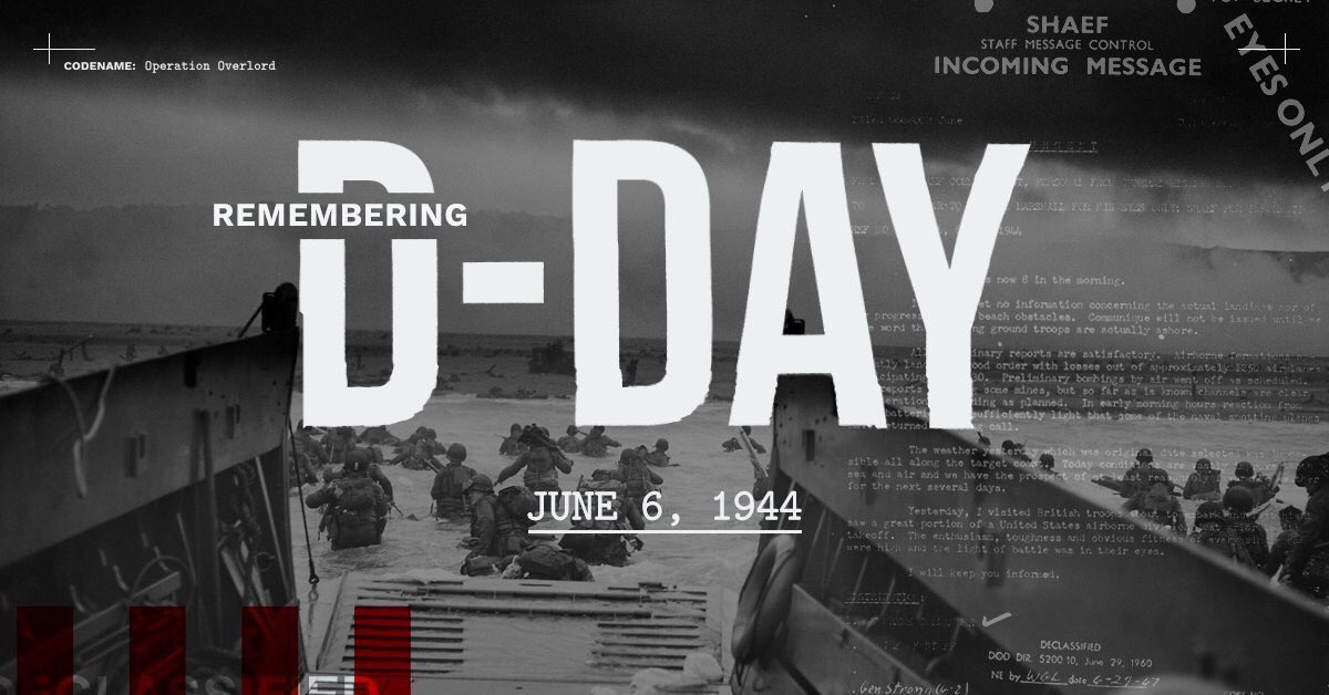 Honoring the memory of all those who fought for liberty and justice and against tyranny in Europe! #DDay