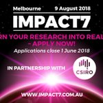 Researchers far and wide - last call for entries into @_IMPACT7_ 2018! This is a great opportunity to give your research a platform to promote its impact and receive feedback from industry leaders like our CEO @DrCharlieDay. Register here https://t.co/gNho20koCi by tomorrow & RT!