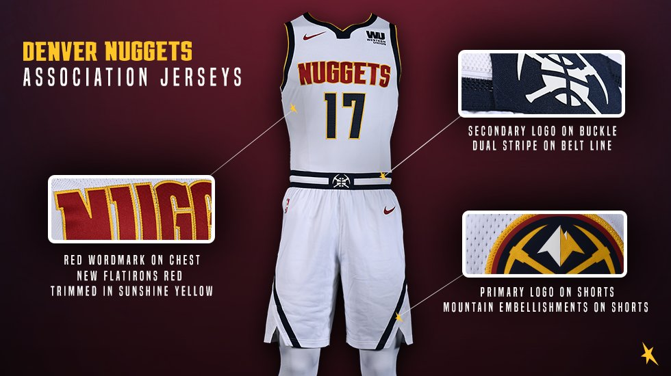 low priced c3572 7e7ef NLSC Forum • Denver Nuggets 2018-2019 Home Uniform