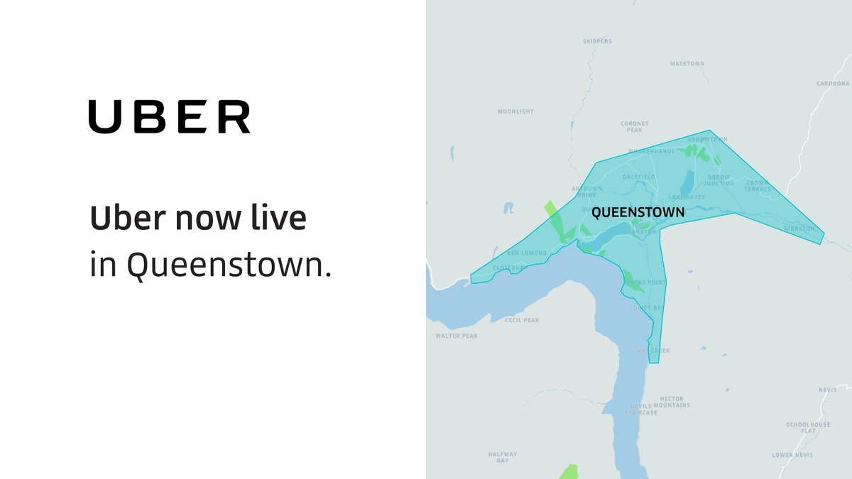 Queenstown- we're on the map! Your reliable ride is now here - join the 450,000 Kiwis moving with Uber, be it commuting to work, hanging out with friends or enjoying a night out. https://t.co/gYfglfm0lp https://t.co/nRnQla10hJ