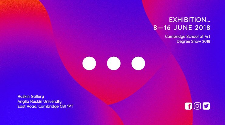 Today is the day!!! 😁 private view for our @CambSchoolofArt Degree Show #2018 is tonight!! The show will be featuring works from amazing students: everything from #photography to #fineart and #interiordesign.  https://www.anglia.ac.uk/arts-law-and-social-sciences/ruskin-gallery/csa-degree-show-2018…