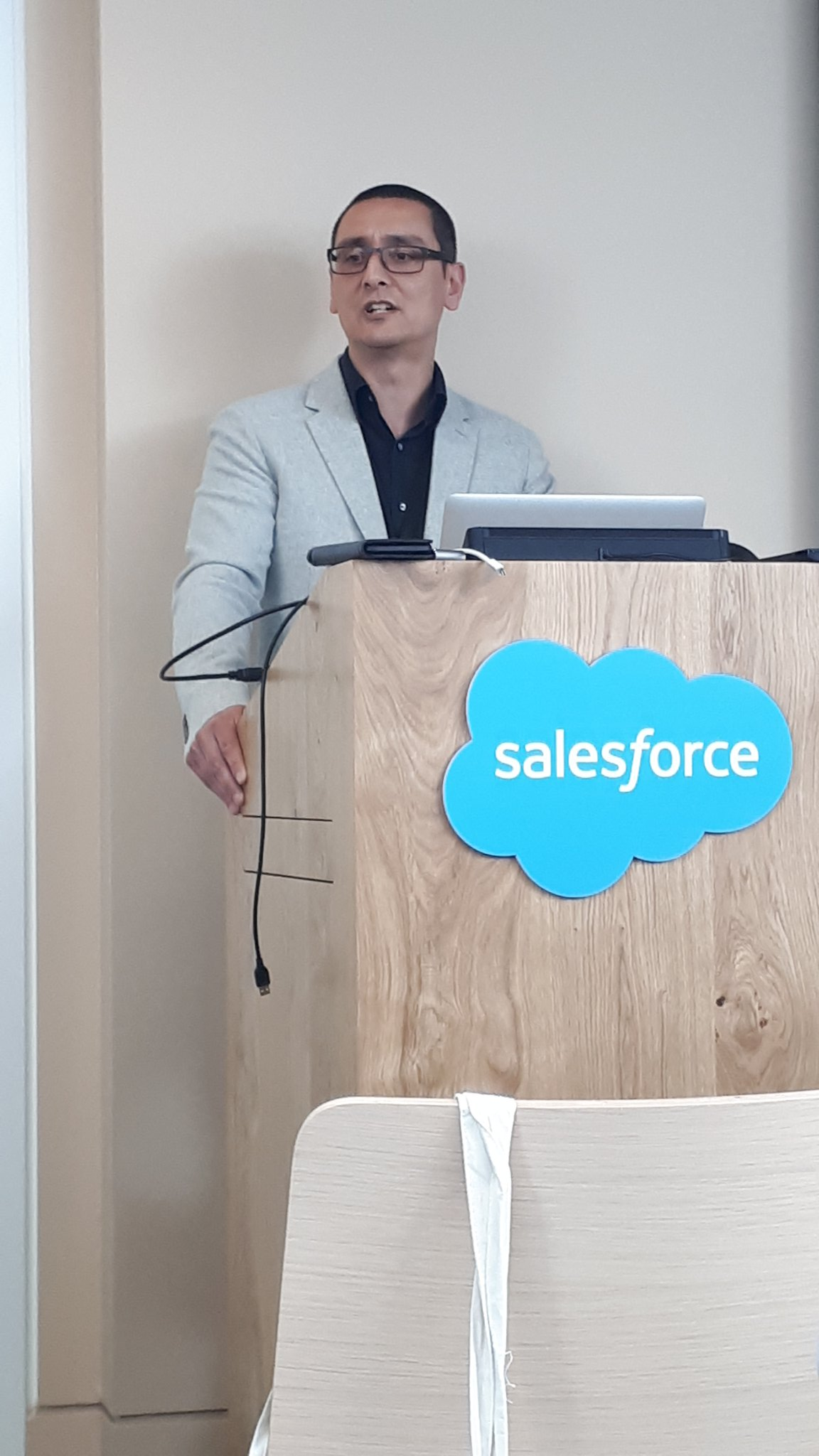 Andrew Bowles addressing Salesforce Construction Council