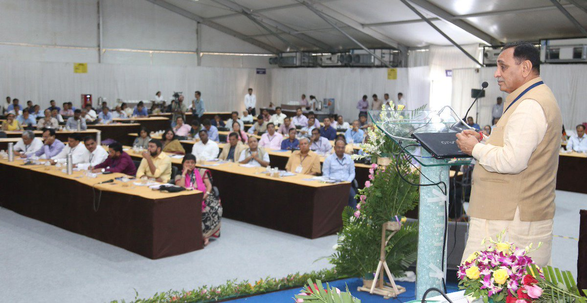 Gujarat CM opens 9 th Chintan Shibir-2018 at Vadodara, 200 attending 3-day event