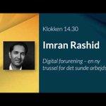 Image for the Tweet beginning: Speciallæge og it-iværksætter @DrImranRashid præsenterer