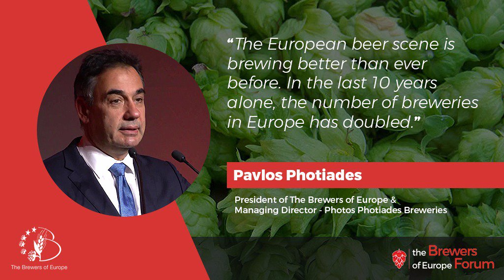 Twitter photo by Brewers of Europe