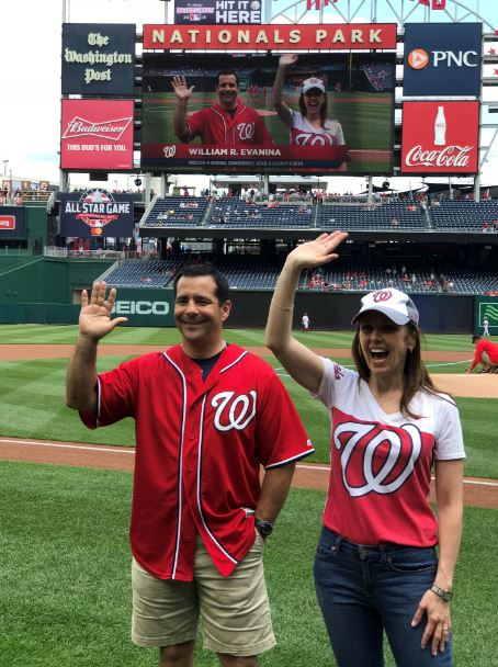 NCSC Director William Evanina received The Washington Nationals Spirit Award yesterday on behalf of the men and women of NCSC.