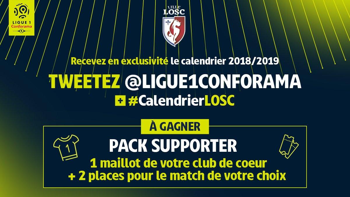 Calendrier Ligue 1 Losc.Losc On Twitter Le Calendrier 2018 2019 Est Sorti