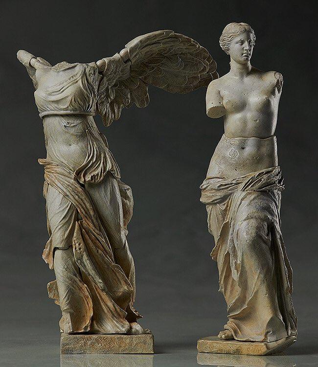 ミロのヴィーナス像とサモトラケのニケ像を可動フィギュアで出すまでは良いとしても(良いのか?) 合体して完全体になるとか企画した奴クレイジーかメガテン時空からの転生者だろ