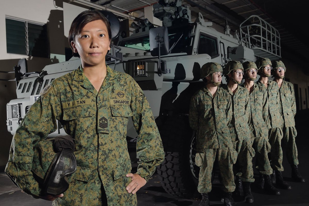 Shes a mother, and a trainer; And she cares for her soldiers. Meet SSG Wynne Tan, Platform Trainer in @oursgarmys MTI: mindef.sg/jun18_cs3.