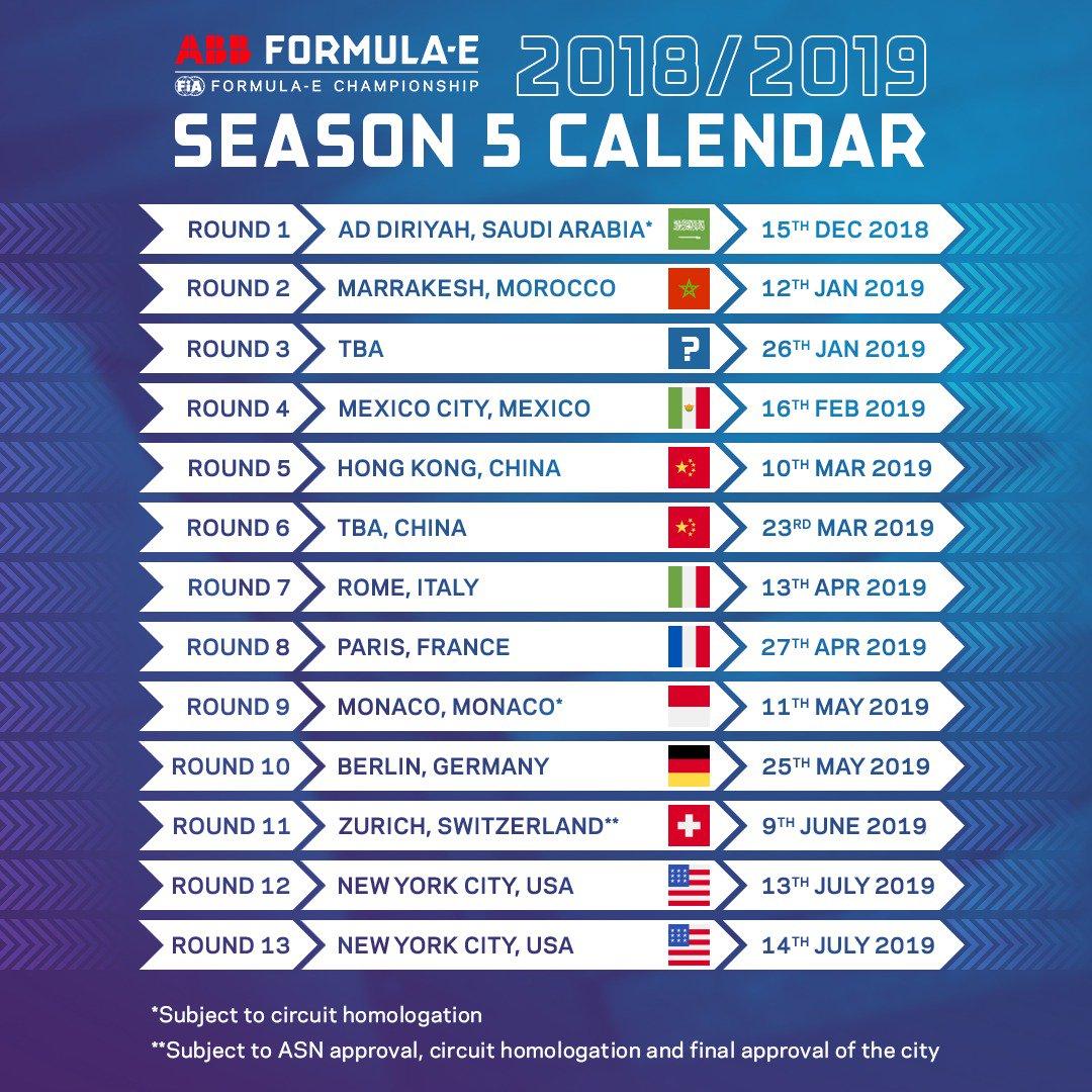Racing Calendar May : Formula e season wikipedia