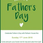 #fathersday2018 is a great opportunity to spend quality time with your Dad, we  invite you to join us at Pelham House for a relaxing afternoon with tea  and cakes. #qualitycare  #qualitytime ⛳️⚽️🏈🚗❣️💕