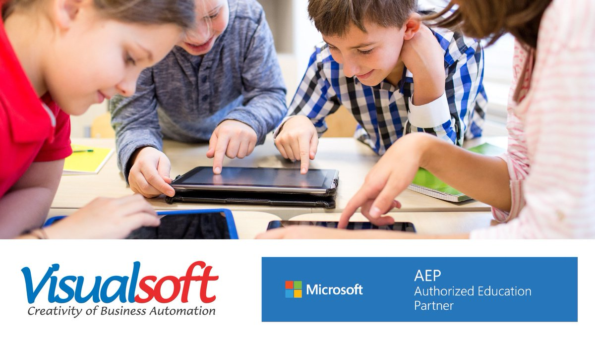 Visualsoft - #Microsoft Authorized #Education Partner Empowering the students of today to create the world of tomorrow.  https://t.co/UiHGQ0AR3h