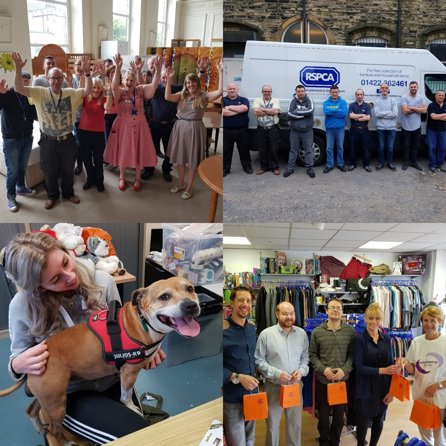 """RSPCA Halifax, Huddersfield & Bradford on Twitter: """"We've had a great  #VolunteersWeek with @vckirklees giving goody bags to our Charity Shop  volunteers, @RamsdensLLP helping prep for our Furry Friends event this  Sunday"""