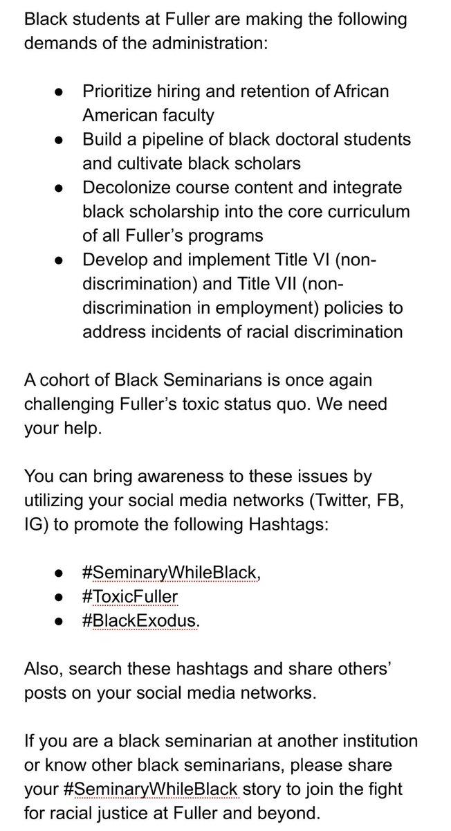 ToxicFuller #SeminaryWhileBlack #BlackExodus