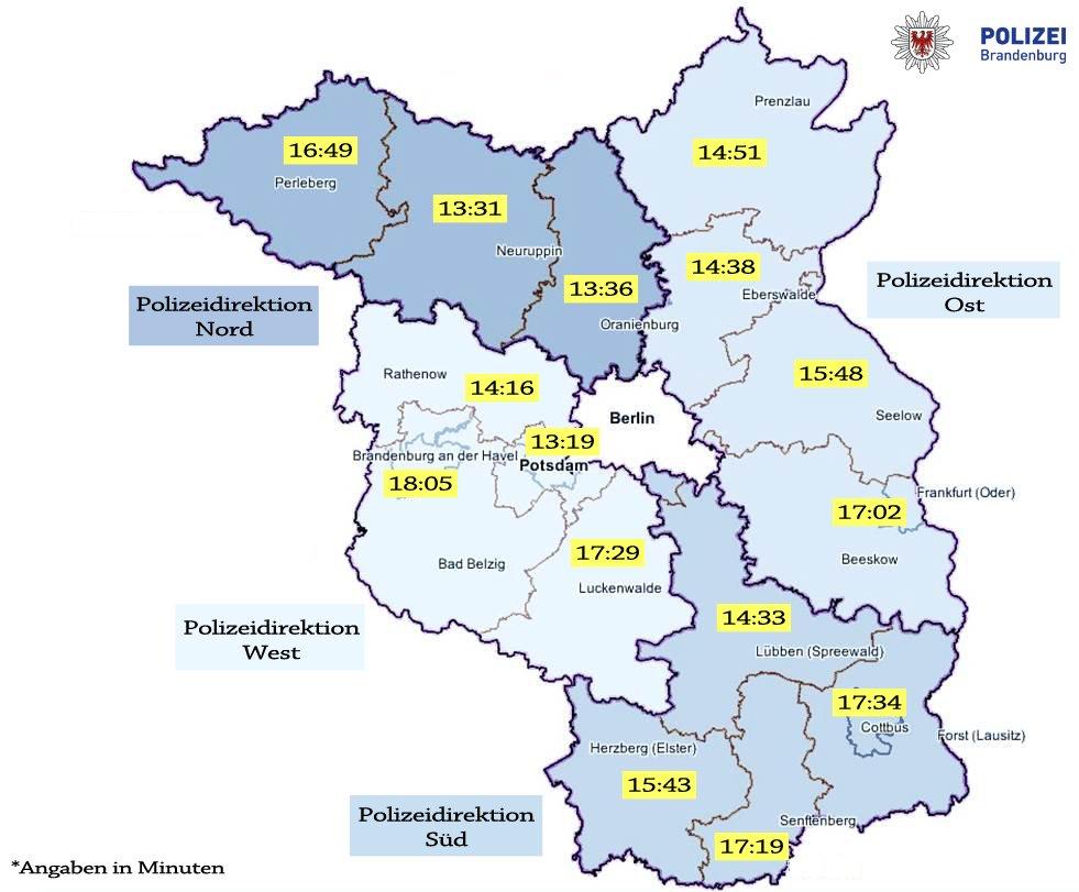Land Brandenburg Karte.Polizei Brandenburg On Twitter Infotweet Wenn Es Um Leben Und