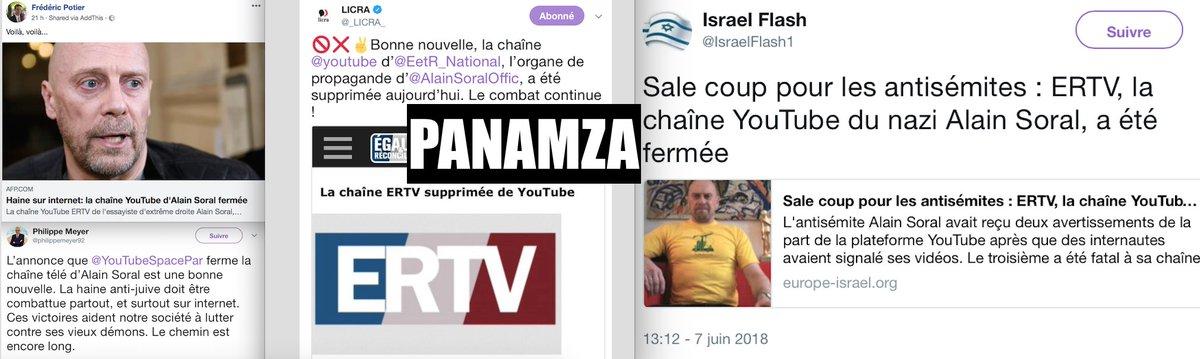 Liberté d'expression : 1, censure : 0 - Youtube réactive ER TV