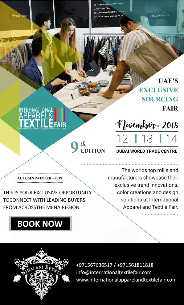 430883c70 ... Fair on November 12,13 and 14, 2018 at Dubai World Trade Center -  Zabeel Hall 1. Save the date and access latest seasonal trends!