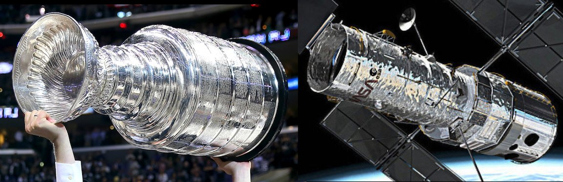 Sometimes I wonder if the @NASAHubble Space Telescope was inspired by the @NHL's Stanley Cup.