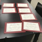 Image for the Tweet beginning: Certificates for our learner graduates.