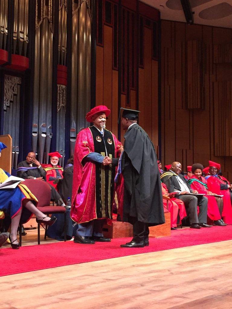 Unisa On Twitter Ndeya Luyanda Receives The Degree Of Master Of