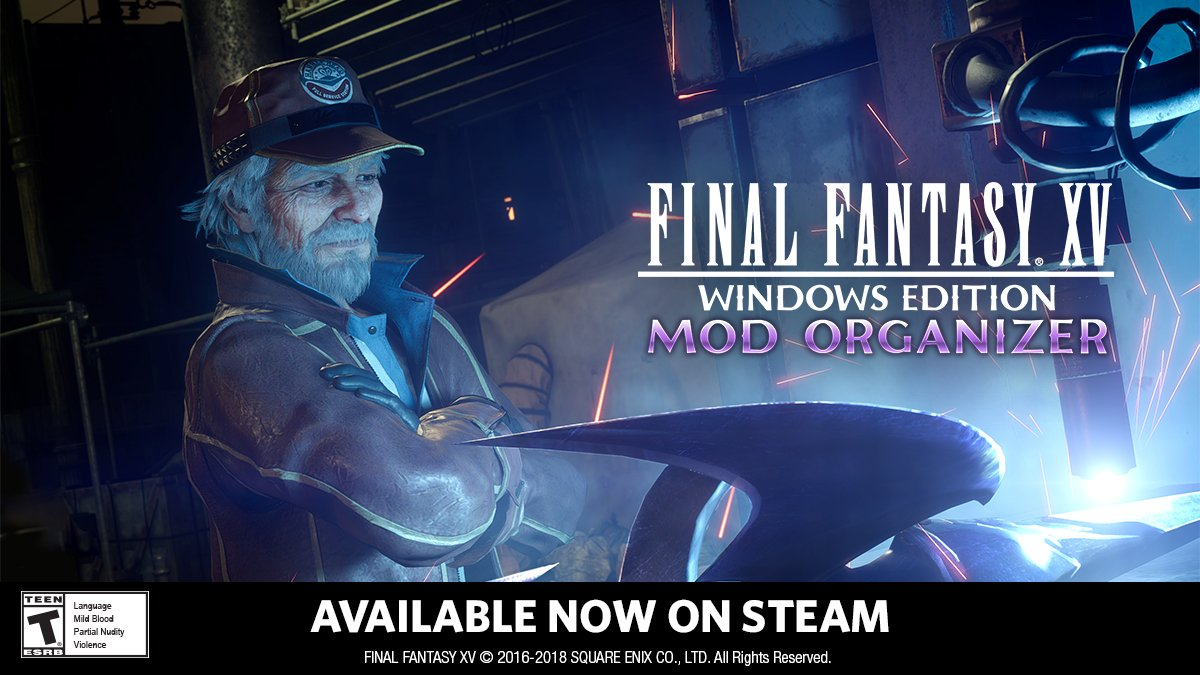 The Mod Organizer for the WINDOWS EDITION of FINAL FANTASY XV offers new possibilities to our players! #FFXV MOD ORGANIZER converts assets youve created into mods and you can upload them to the Steam Workshop. For more information: bit.ly/2Hs0KYv