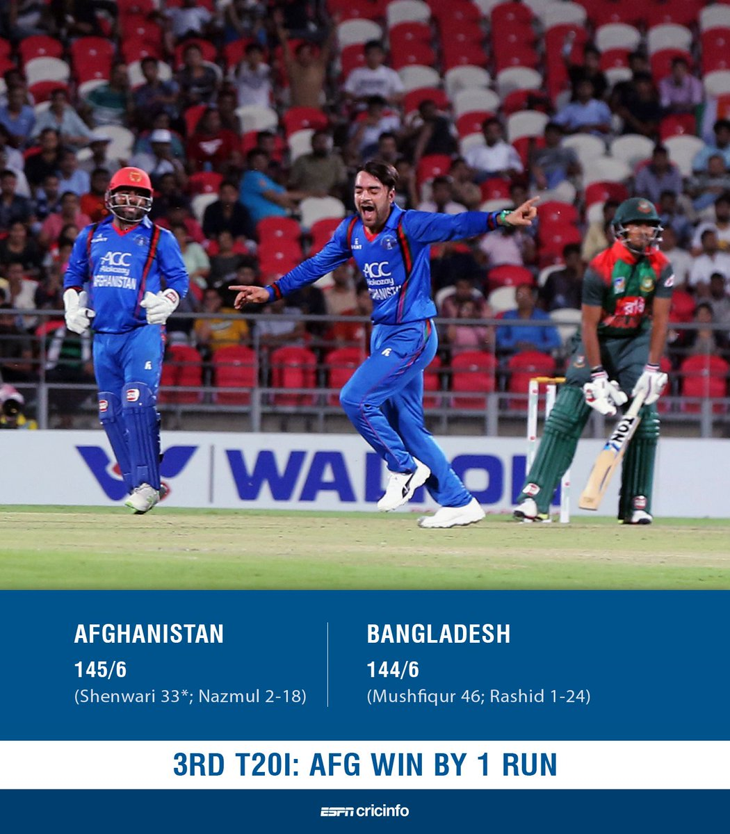 You all deserve a big Thank You for bringing smiles and being the reason to cherish the moment. #AFGvsBAN @ACBofficials #Afg - Congratulations for winning the series.