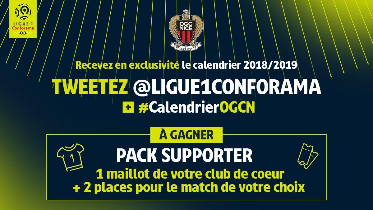 Calendrier Ligue 1 Nice.Ogc Nice On Twitter Le Calendrier 2018 2019 Est Sorti