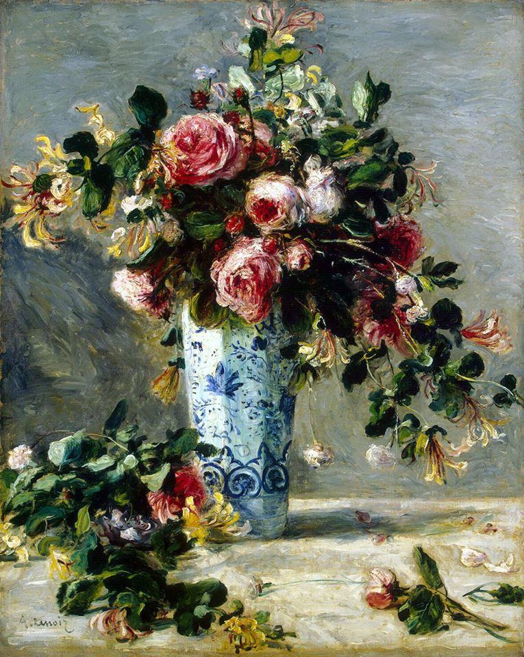 Выбор цветов, ренуар - букет роз