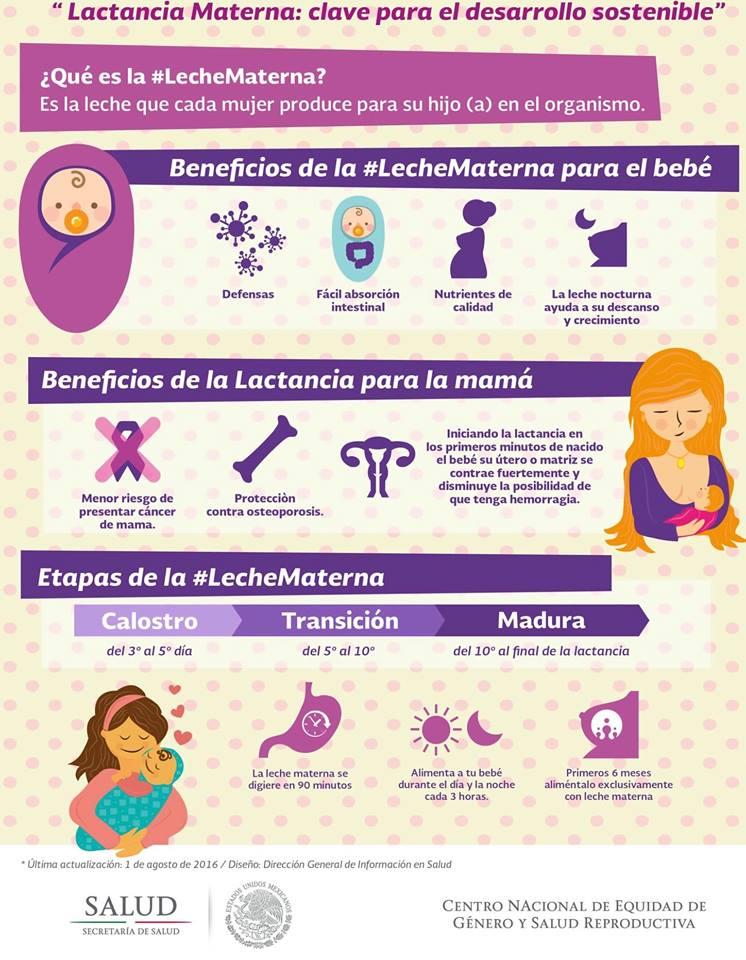 beneficios de la leche materna en el bebe