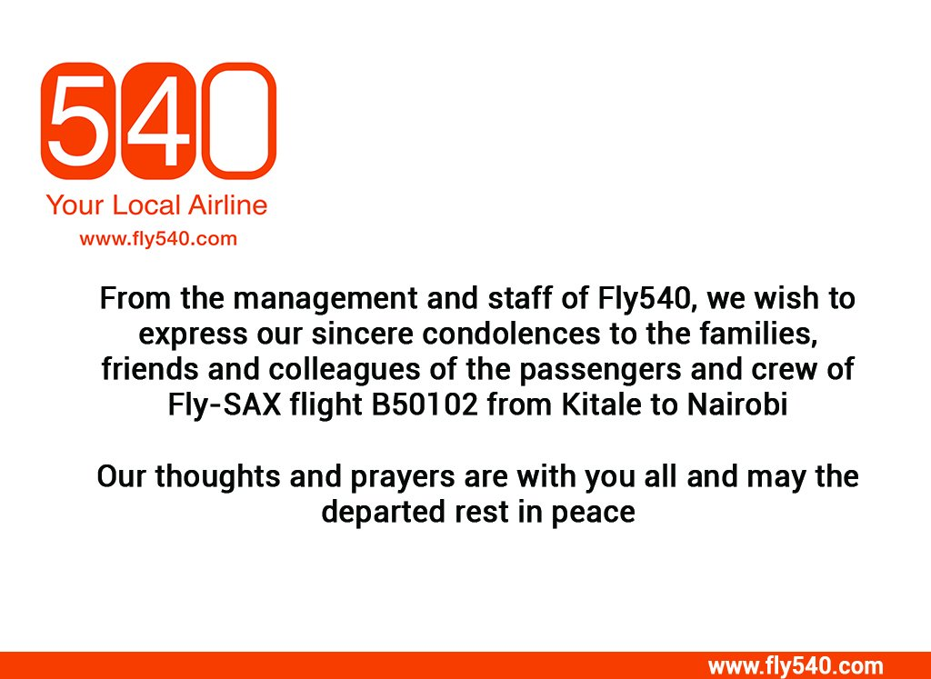 From all of us at Fly540 @flysaxairline #FlySax<br>http://pic.twitter.com/kZLt7Yq7Hf