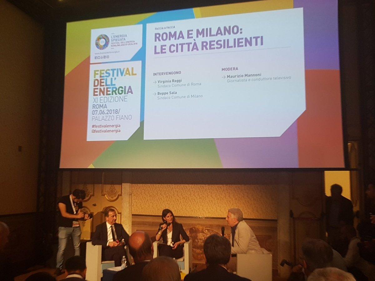 Roma e Milano: le città resilienti. Con noi al #festivalenergia @virginiaraggi @BeppeSala